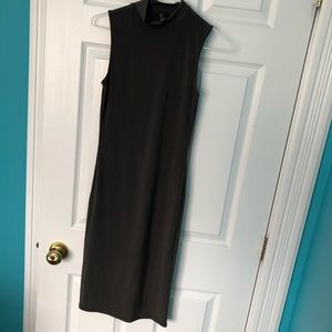 NWOT mock neck olive green dress